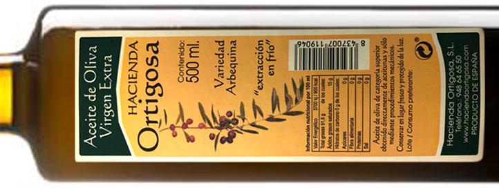 Etiquetado del aceite de oliva
