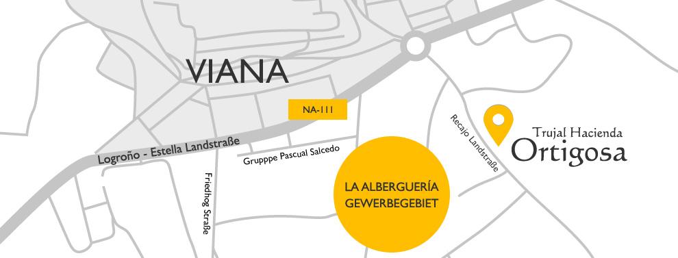 Landkarte : Ölpresse Hacienda Ortigosa