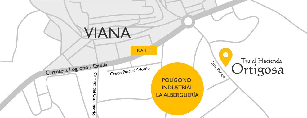 Mapa de localización : Trujal Hacienda Ortigosa