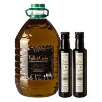 Pack Einzel-Plastikflasche 5l. + Geschenk 3 flaschen 0,25l. : Ölpresse Hacienda Ortigosa