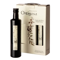 Case with three bottles 0.5 litres  : Oil Press Hacienda Ortigosa