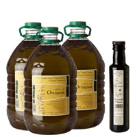 Pack 3 x 5l. single plastic bottle + Gift 1 bottle 0,5l. : Oil Press Hacienda Ortigosa